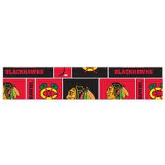 Chicago Blackhawks Nhl Block Fleece Fabric Flano Scarf (Small)