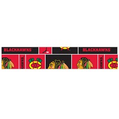 Chicago Blackhawks Nhl Block Fleece Fabric Flano Scarf (large)