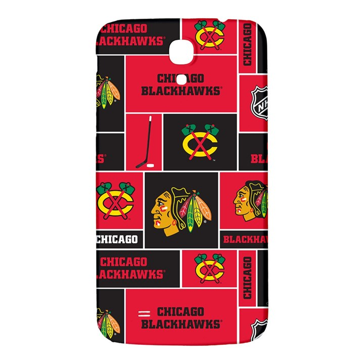 Chicago Blackhawks Nhl Block Fleece Fabric Samsung Galaxy Mega I9200 Hardshell Back Case