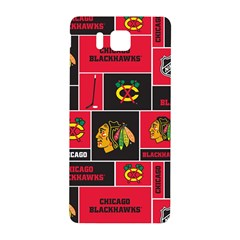 Chicago Blackhawks Nhl Block Fleece Fabric Samsung Galaxy Alpha Hardshell Back Case