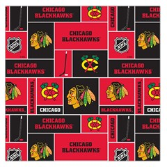 Chicago Blackhawks Nhl Block Fleece Fabric Large Satin Scarf (square)