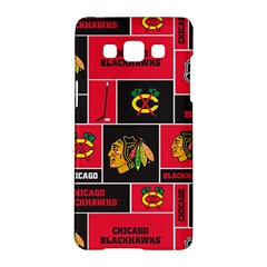 Chicago Blackhawks Nhl Block Fleece Fabric Samsung Galaxy A5 Hardshell Case