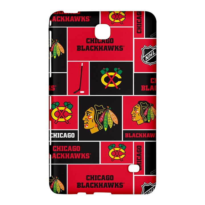 Chicago Blackhawks Nhl Block Fleece Fabric Samsung Galaxy Tab 4 (7 ) Hardshell Case