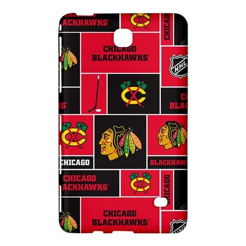 Chicago Blackhawks Nhl Block Fleece Fabric Samsung Galaxy Tab 4 (8 ) Hardshell Case