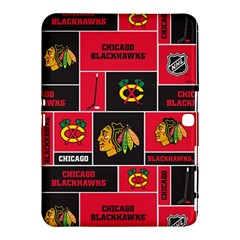 Chicago Blackhawks Nhl Block Fleece Fabric Samsung Galaxy Tab 4 (10.1 ) Hardshell Case