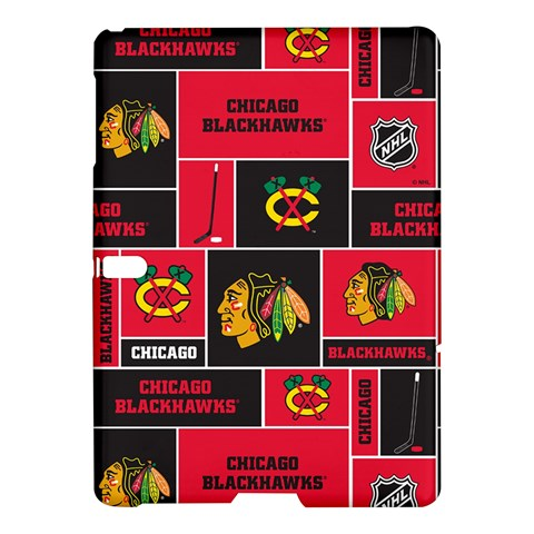 Chicago Blackhawks Nhl Block Fleece Fabric Samsung Galaxy Tab S (10.5 ) Hardshell Case