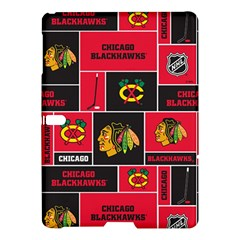 Chicago Blackhawks Nhl Block Fleece Fabric Samsung Galaxy Tab S (10 5 ) Hardshell Case