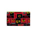 Chicago Blackhawks Nhl Block Fleece Fabric Cosmetic Bag (XS) Back