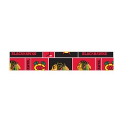 Chicago Blackhawks Nhl Block Fleece Fabric Flano Scarf (mini)