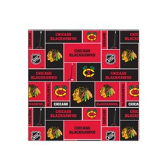 Chicago Blackhawks Nhl Block Fleece Fabric Satin Bandana Scarf