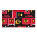Chicago Blackhawks Nhl Block Fleece Fabric Satin Shawl Front