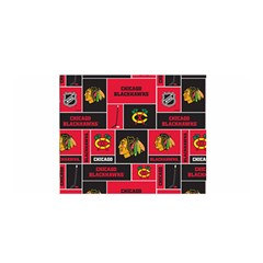 Chicago Blackhawks Nhl Block Fleece Fabric Satin Wrap