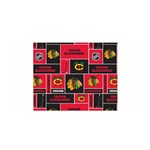 Chicago Blackhawks Nhl Block Fleece Fabric Satin Wrap Front