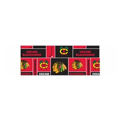Chicago Blackhawks Nhl Block Fleece Fabric Satin Scarf (Oblong)