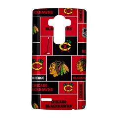 Chicago Blackhawks Nhl Block Fleece Fabric LG G4 Hardshell Case