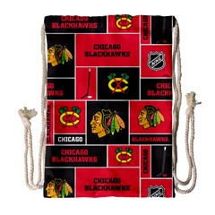 Chicago Blackhawks Nhl Block Fleece Fabric Drawstring Bag (Large)