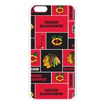 Chicago Blackhawks Nhl Block Fleece Fabric Apple Seamless iPhone 6 Plus/6S Plus Case (Transparent) Front