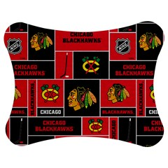Chicago Blackhawks Nhl Block Fleece Fabric Jigsaw Puzzle Photo Stand (Bow)