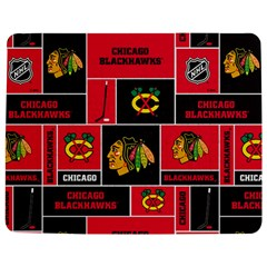 Chicago Blackhawks Nhl Block Fleece Fabric Jigsaw Puzzle Photo Stand (Rectangular)