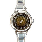 Bring Me The Horizon Cover Album Gold Round Italian Charm Watch Front