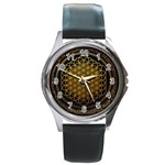 Bring Me The Horizon Cover Album Gold Round Metal Watch Front