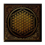 Bring Me The Horizon Cover Album Gold Tile Coasters Front