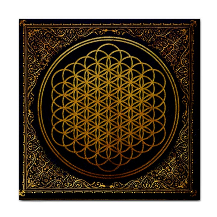Bring Me The Horizon Cover Album Gold Tile Coasters
