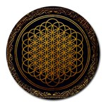 Bring Me The Horizon Cover Album Gold Round Mousepads Front