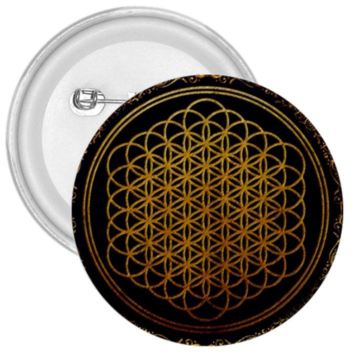 Bring Me The Horizon Cover Album Gold 3  Buttons