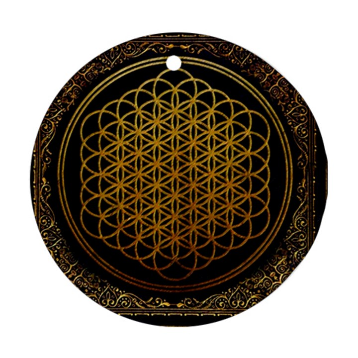 Bring Me The Horizon Cover Album Gold Ornament (Round)