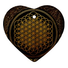 Bring Me The Horizon Cover Album Gold Ornament (Heart)