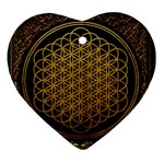 Bring Me The Horizon Cover Album Gold Ornament (Heart)  Front