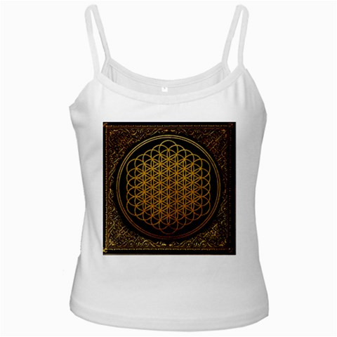 Bring Me The Horizon Cover Album Gold White Spaghetti Tank
