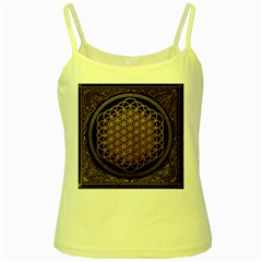 Bring Me The Horizon Cover Album Gold Yellow Spaghetti Tank