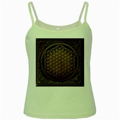 Bring Me The Horizon Cover Album Gold Green Spaghetti Tank