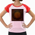 Bring Me The Horizon Cover Album Gold Women s Cap Sleeve T-Shirt Front