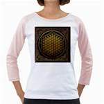 Bring Me The Horizon Cover Album Gold Girly Raglans Front