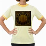 Bring Me The Horizon Cover Album Gold Women s Fitted Ringer T-Shirts Front