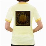 Bring Me The Horizon Cover Album Gold Women s Fitted Ringer T-Shirts Back