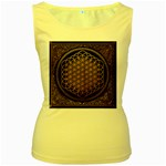 Bring Me The Horizon Cover Album Gold Women s Yellow Tank Top Front