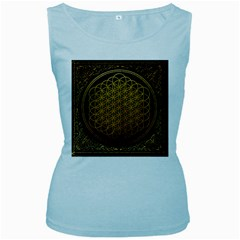 Bring Me The Horizon Cover Album Gold Women s Baby Blue Tank Top