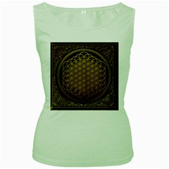 Bring Me The Horizon Cover Album Gold Women s Green Tank Top