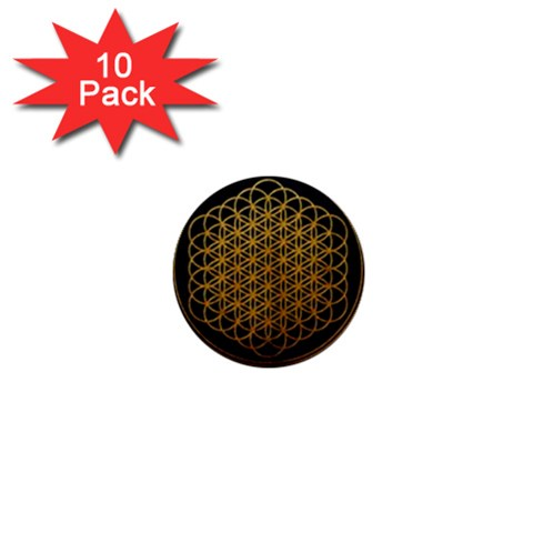 Bring Me The Horizon Cover Album Gold 1  Mini Buttons (10 pack)