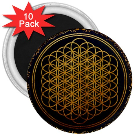 Bring Me The Horizon Cover Album Gold 3  Magnets (10 pack)