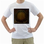Bring Me The Horizon Cover Album Gold Men s T-Shirt (White) (Two Sided) Front