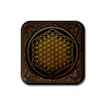 Bring Me The Horizon Cover Album Gold Rubber Square Coaster (4 pack)  Front