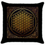 Bring Me The Horizon Cover Album Gold Throw Pillow Case (Black) Front