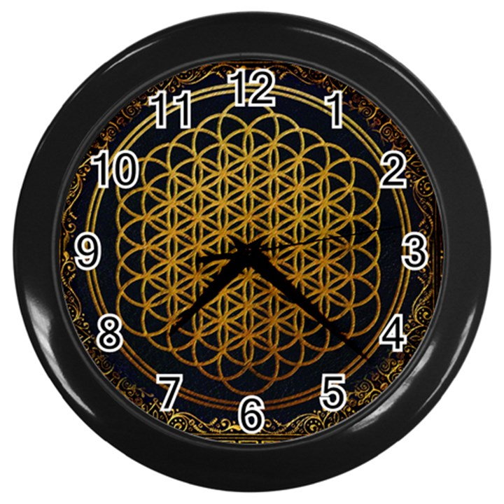 Bring Me The Horizon Cover Album Gold Wall Clocks (Black)