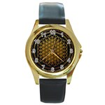 Bring Me The Horizon Cover Album Gold Round Gold Metal Watch Front