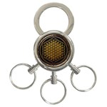 Bring Me The Horizon Cover Album Gold 3-Ring Key Chains Front